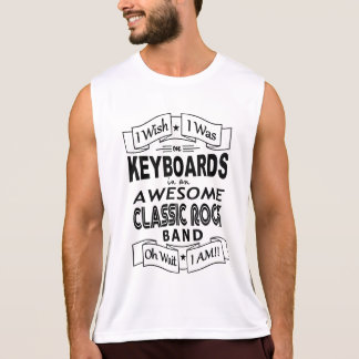 KEYBOARDS awesome classic rock band (blk) Singlet