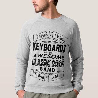 KEYBOARDS awesome classic rock band (blk) Sweatshirt