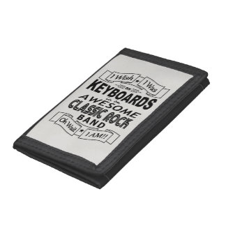 KEYBOARDS awesome classic rock band (blk) Tri-fold Wallet