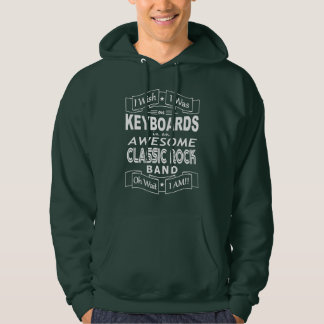 KEYBOARDS awesome classic rock band (wht) Hoodie