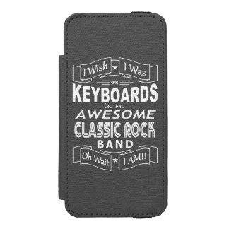 KEYBOARDS awesome classic rock band (wht) Incipio Watson™ iPhone 5 Wallet Case