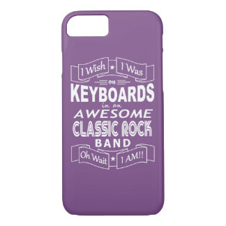 KEYBOARDS awesome classic rock band (wht) iPhone 8/7 Case