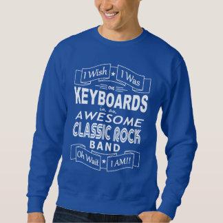 KEYBOARDS awesome classic rock band (wht) Sweatshirt