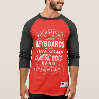 KEYBOARDS awesome classic rock band (wht) T-Shirt
