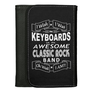 KEYBOARDS awesome classic rock band (wht) Women's Wallets