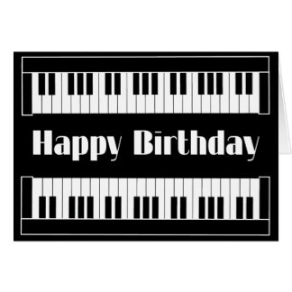 Keyboards Happy Birthday Card