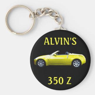 KEYCHAIN-ALVIN'S 350 Z BASIC ROUND BUTTON KEY RING
