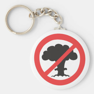Keychain: anti nuclear weapons symbol key ring