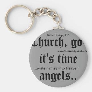 Keychain/Baton Rouge, La/christian witness wear Basic Round Button Key Ring