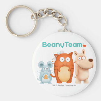 Keychain: BeanyTeam™ - Cat & Mouse & Dog Basic Round Button Key Ring