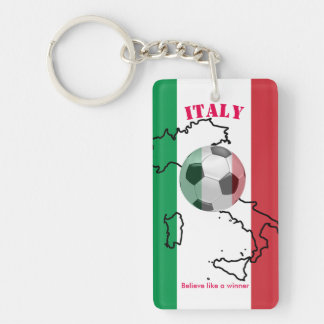 keychain believe like a winner italy