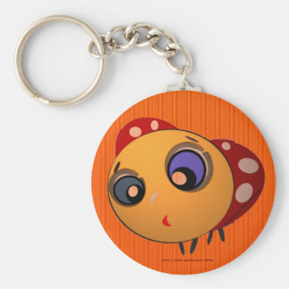 Keychain_Blue-eyed ladybug_Key_Chain_Zaltar Basic Round Button Key Ring