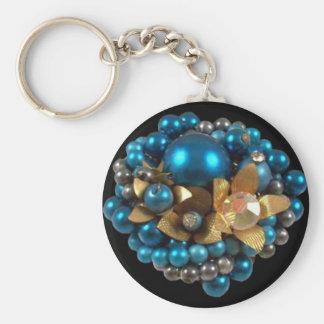 Keychain Blue Gem Jewel 020 Key Chains