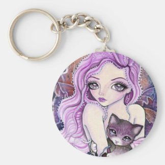 "Keychain - Cat & Fairy Art ""The Coming Storm"""