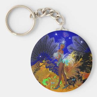 Keychain Celebration Showgirl In Blue Key Chain