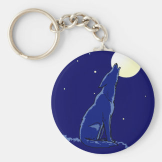 KEYCHAIN Coyote Howling Full Moon Madness Coyotes