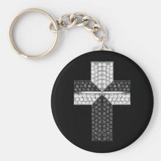 Keychain Cross Gem Jewel 057 Keychain