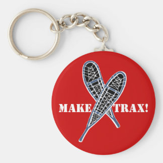 KEYCHAIN Crossed Snowshoes Snowshoeing make trax!