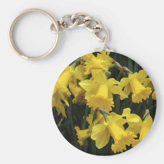 """Keychain, """"Daffodil Mass"""" Key Ring"""