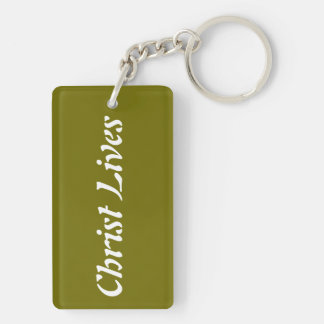 Keychain Floral Christ Lives