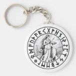 keychain Freya Rune Shield
