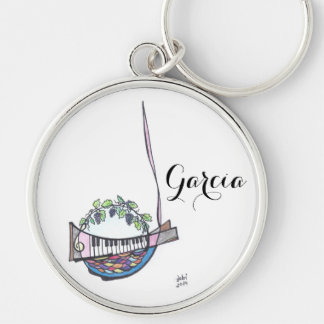 keychain:  Garcia Silver-Colored Round Key Ring