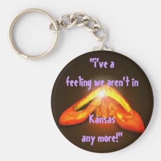 KEYCHAIN Gift Ruby Slippers Oz I've a Feeling We