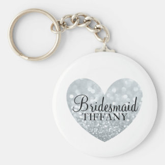 Keychain - Glitter Heart Bridesmaid Name