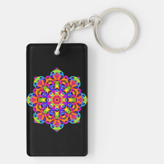 Keychain: Mandala Image #6 Created on 2.16.2016 Key Ring