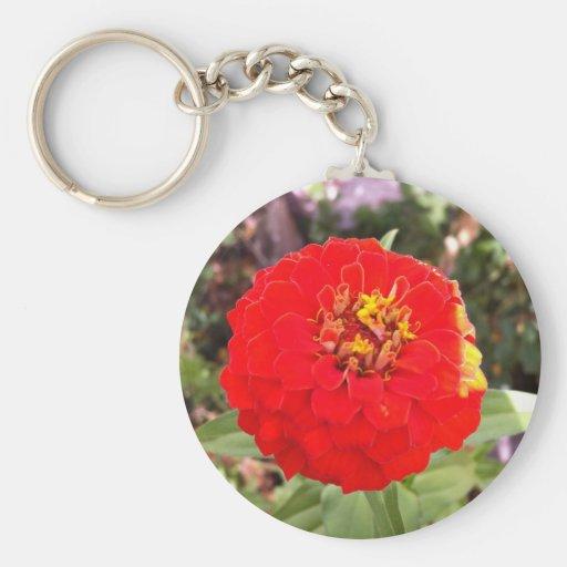 Keychain marries flower