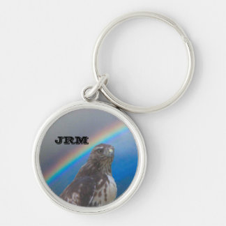 Keychain - Monogram with Falcon Head and Rainbow