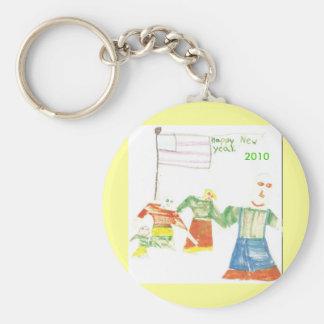 Keychain/New Year Basic Round Button Key Ring