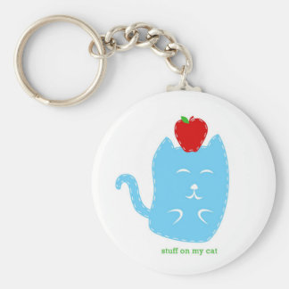 keychain - stuff on my cat - cat with apple