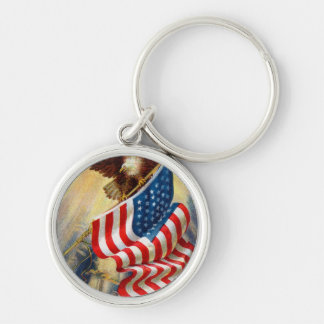Keychain w/ EAGLE DEFENDING LIBERTY