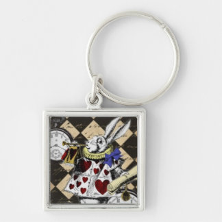 Keychain - White Rabbit, Alice in Wonderland