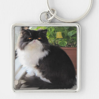 Keychain with a cat on it.