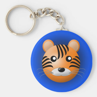 keychain with animal: tiger