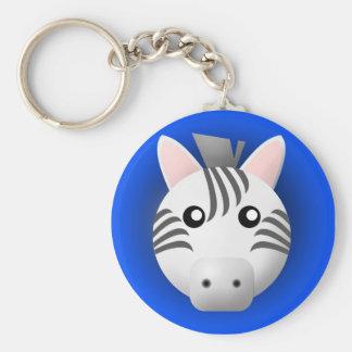 keychain with animal: zebra