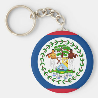Keychain with Flag of Belize