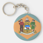 Keychain with Flag of Delaware State