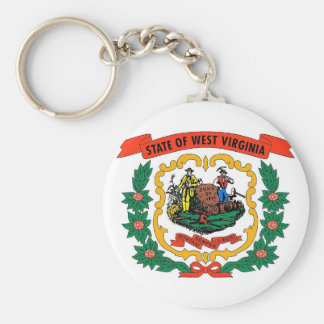 Keychain with Flag of West Virginia State