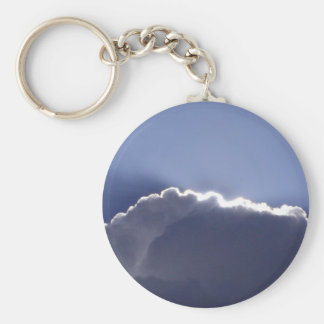 Keychain with photo of cloud with silver lining