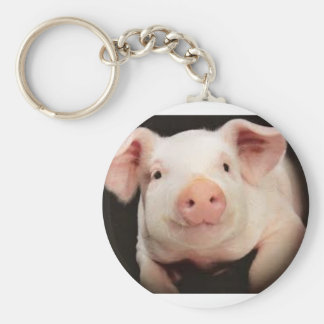 Keychain with picture of pig