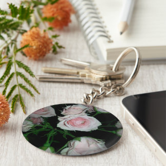 keychain with roses