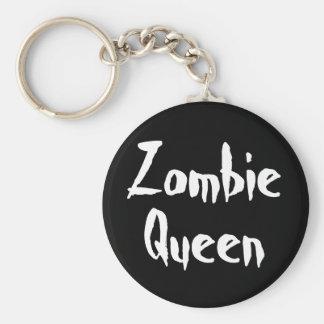 Keychain, Zombie Queen Basic Round Button Key Ring