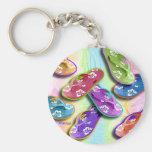 Keychains - FLIP FLOPS Pop Art