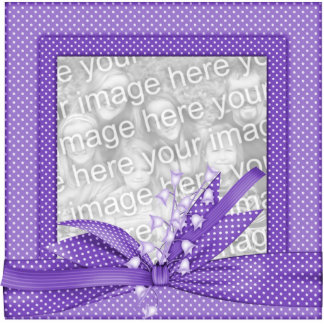 Keychains Photo Sculpture Photo Frame Purple Acrylic Cut Out