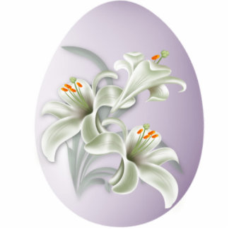 Keychains Photo Sculpture White Flower In Egg 2 Photo Cutouts