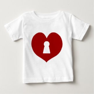 Keyhole Heart Red Baby T-Shirt