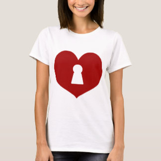 Keyhole Heart Red T-Shirt